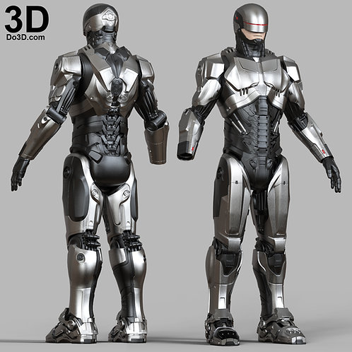 RoboCop Silver Suit / New Armor 2014 Film  | 3D Printable Model #4800