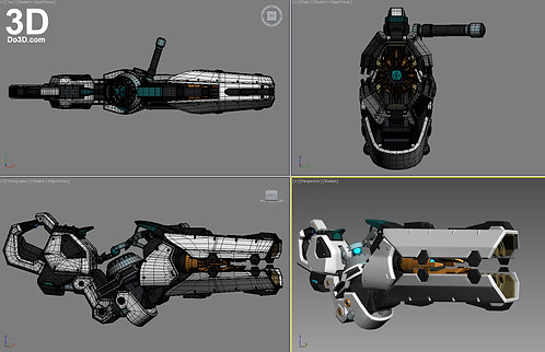 Zarya Blaster Gun from Overwatch | 3D Printable Model #838