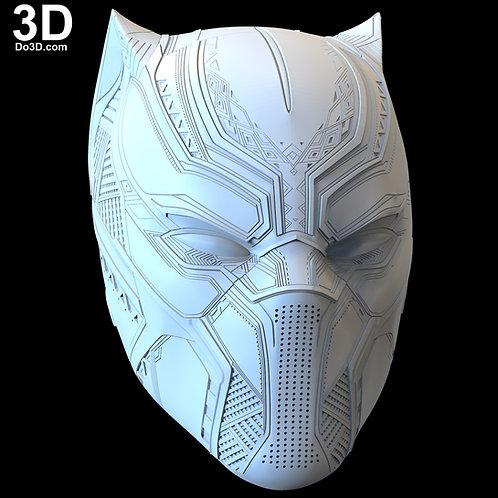 Black Panther Civil War Classic Premium Helmet   3D Model Project #5284