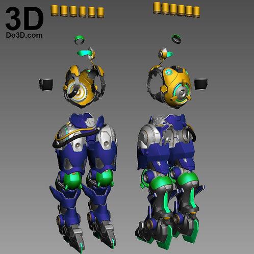 Lucio Overwatch Full Body Armor Suit | 3D Model Project #946