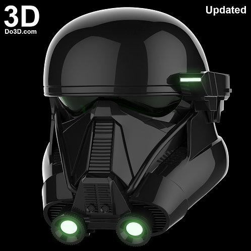 3D Printable Model: Imperial Death Trooper Helmet V1 Star Wars | STL File #563