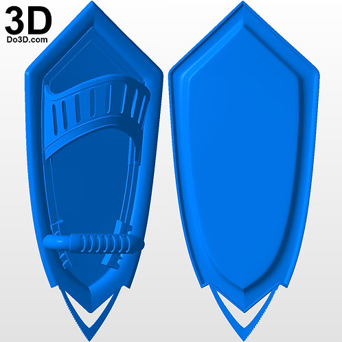 Under Shield Details for Captain America Nomad | 3D Model Project #4647