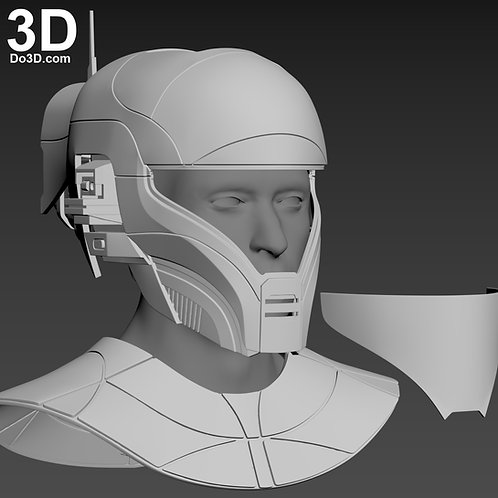 Zorii Bliss Helmet and Neck Armor Star Wars | 3D Print Model Project #6412