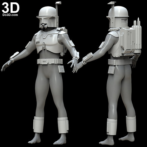 Ralph Mcquarrie Boba Fett Helmet and Armor | 3D Model Project #4879
