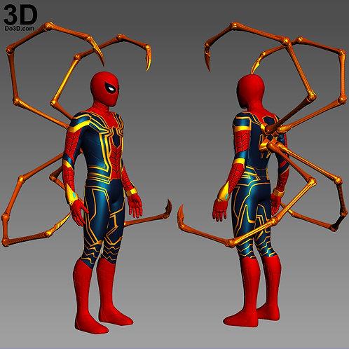Iron Spider Spider-man Infinity War Set | 3D Model Project #4480