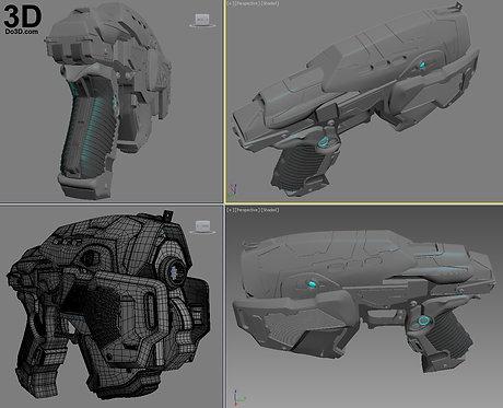Gears of War GOW 3 C.O.G. Snub Pistol Gun  | 3D Model Project #1768