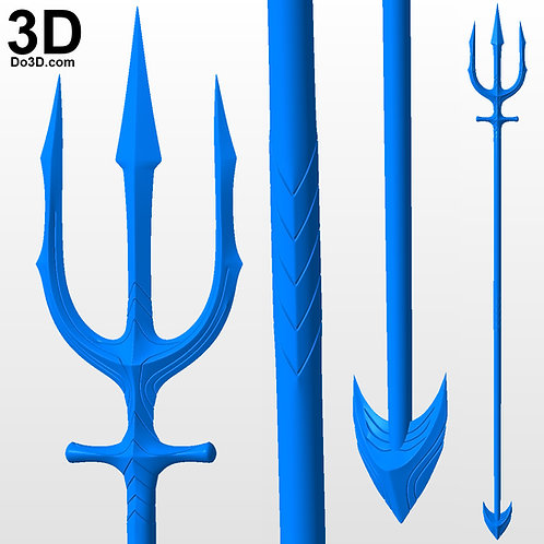 Aquaman 2018 Movie Trident | 3D Printable Model Print STL File #AT18