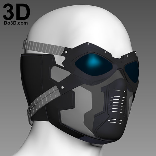 Winter Soldier Bucky Goggles & Mask Mouth Cover | 3D Print Model Project #1444