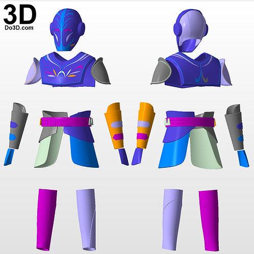 Jedi Temple Guard helmet and armor Star Wars Clone Wars | 3D Project #4321