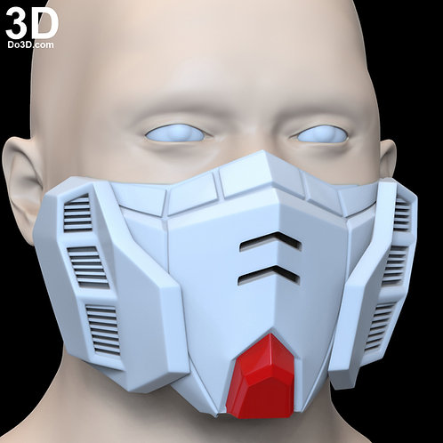RG RX-178 Gundam Style Face Mask Covering | 3D Printable Model #F8
