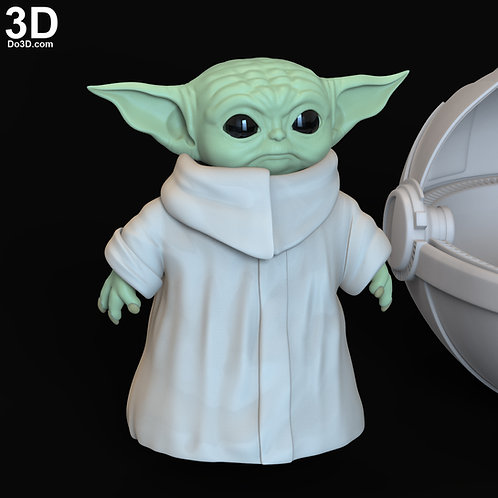 The Child Baby Yoda Set from Mandalorian (Toy, Statue) 3D Printable Model #6329