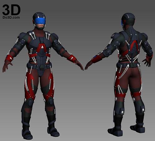 Atom Full Body Armor Suit and Helmet  | 3D Model Project #1184