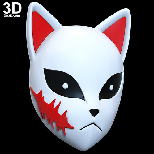 Sabito Kamado Mask Demon Slayer Kimetsu no Yaiba | 3D Model Project #6678