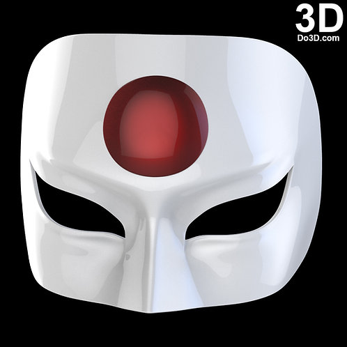 Katana Mask from Suicide Squad for Cosplay Black & White   3D Model Project #825