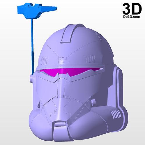 Commander Wolffe Helmet Star Wars: The Clone Wars | 3D Model Project #4620
