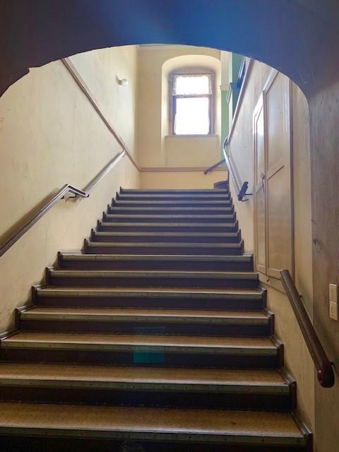 Eine der Treppen im Schloss