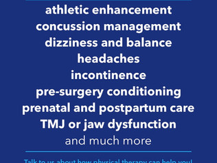 National Physical Therapy Month: Did you know physical therapy can help with....?