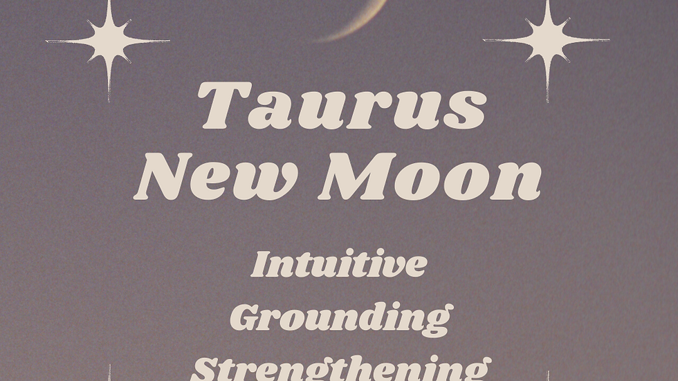 Guide Card for Taurus New Moon