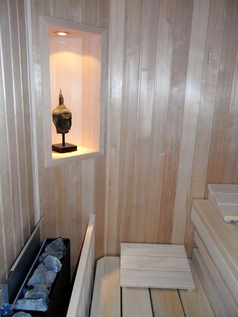 In Wohnung integrierte Sauna