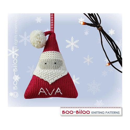 Boo Biloo Santa Clause Hanger Knitting Kit