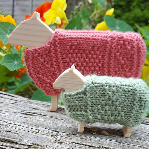 Gansey Sheep Knitting Kit.  Choose your colours.