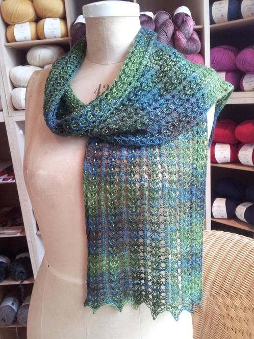 Midsummer Lace Scarf Knitting Pattern
