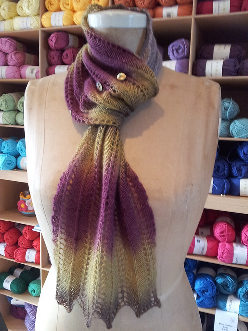 Feather Neck Warmer Knitting Pattern