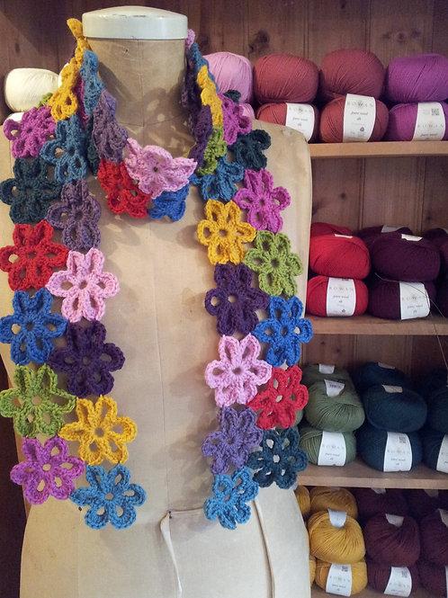 Flower Power Crochet Scarf Pattern