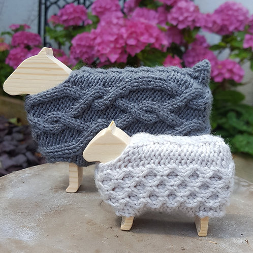 Aran Sheep Knitting Kit.  Choose your colours.