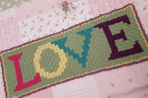 Corner to Corner Crochet Love Cushion Pattern