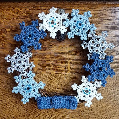 Snowflake Wreath Crochet Pattern