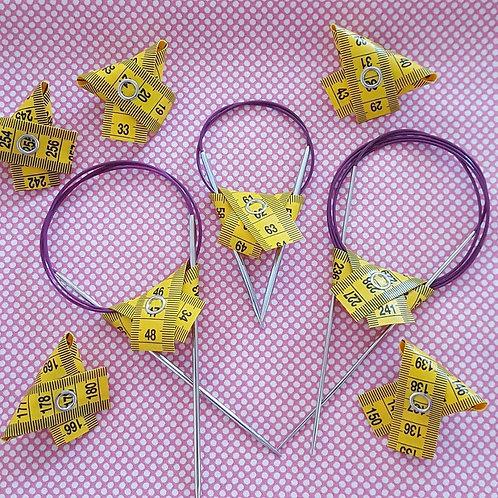 Circular Needle Tidies.  4 for £5