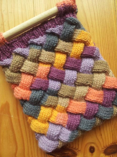 Entrelac Bag Knitting Pattern