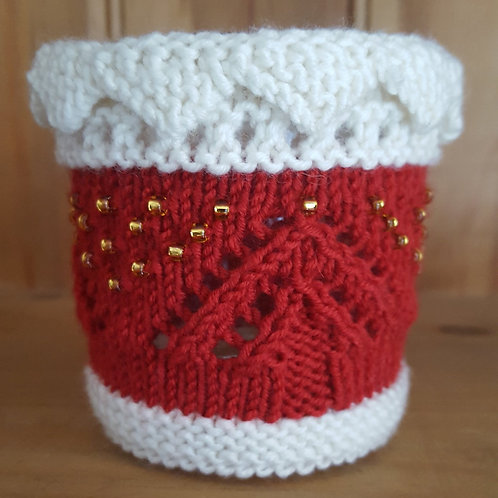 Lace Glass Candle Cover Knitting Kit.  Choose your colour.