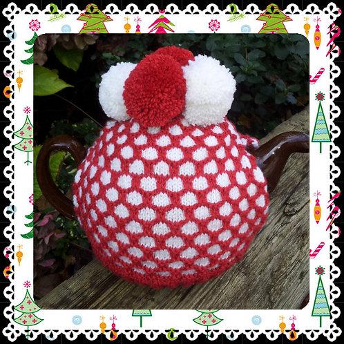 Christmas Snowball Tea Cosy Pattern