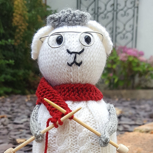 Amy Sheep Knitting Kit.  Choose your colour.