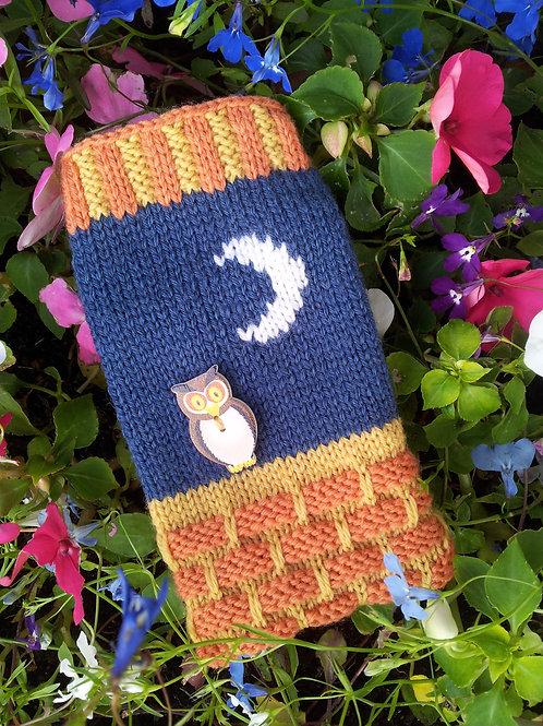 Owl Phone Cosy Knitting Pattern