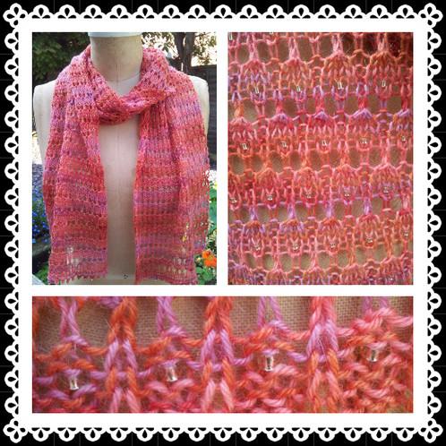 Renew Beaded Lace Scarf Knitting Pattern