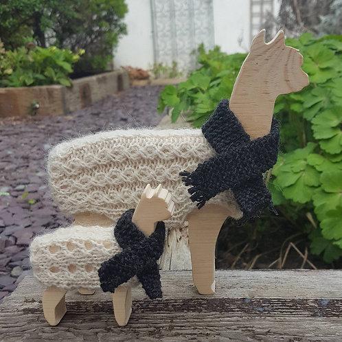 Annabel and Alice Alpaca Knitting Kit