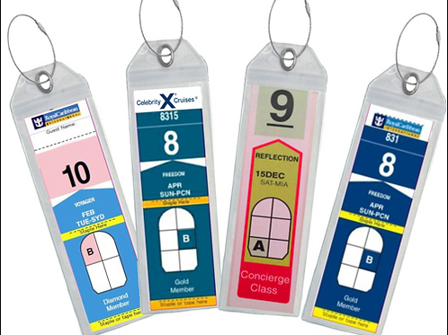 Royal Caribbean/Celebrity Luggage Tags x 4