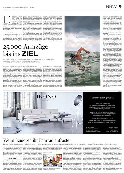 Welt article featuring photo by Paola Roldan