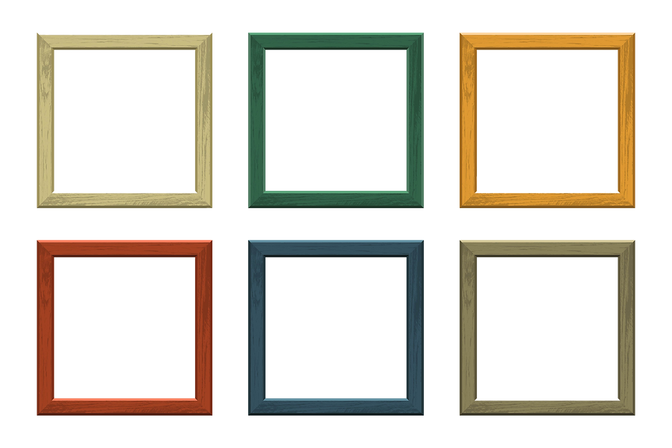 4 wood colour Wooden picture frame of di
