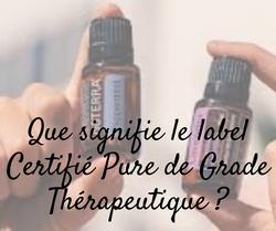Certifié Pure de Grade thérapeutique