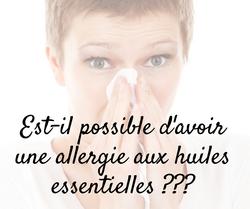 Allergies et huiles essentielles