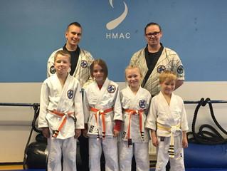 HMAC:n Hapkido-Juniorit osoittivat osaamistaan vyökokeessa 8.10.2017!