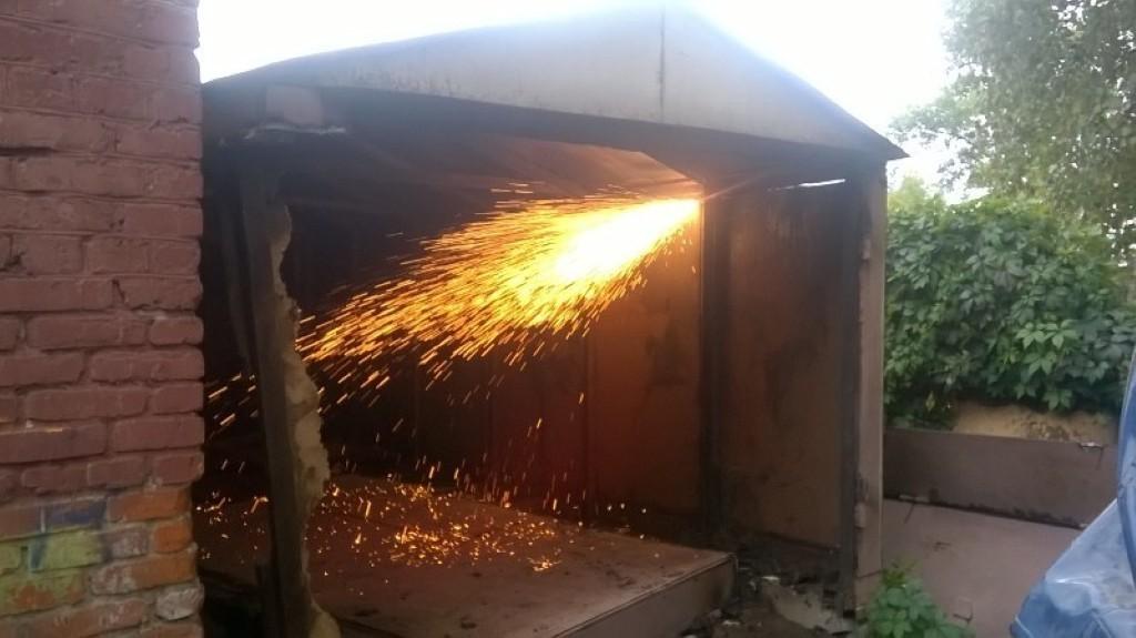 вывоз гаражей на металлолом