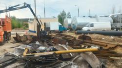 Демонтаж дымовой трубы