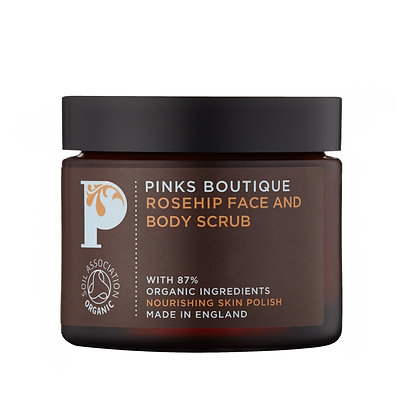 Pinks Boutique Rosehip Face + Body Scrub, 60g