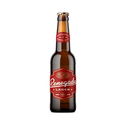 Renegade Lager, 330ml bottle