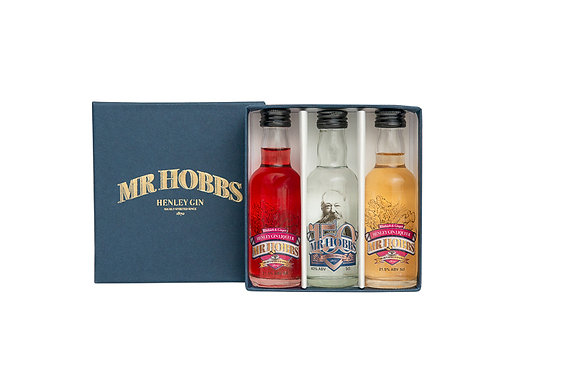 Mr Hobbs of Henley Gift Box with 150 Gin & Fruit Flavoured Gin Liqueurs, 5cl